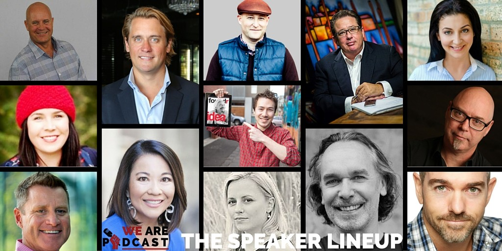 The speaker lineup we are podcast