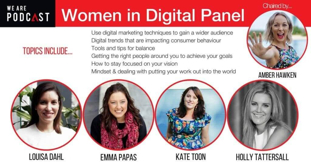 Women in Digital Panel Outline We Are Podcast 2016